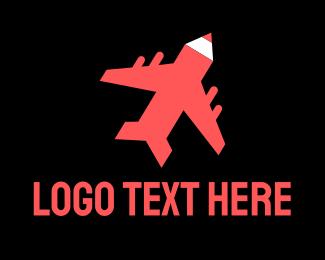 Aeroplane - Flying Art  logo design