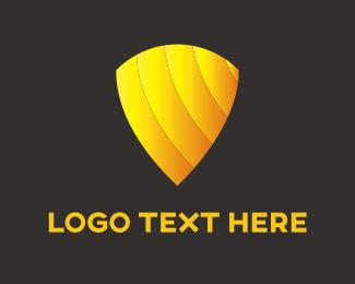Protect - Gold Shield logo design