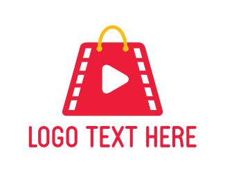 Shopping Bag - Film Market logo design