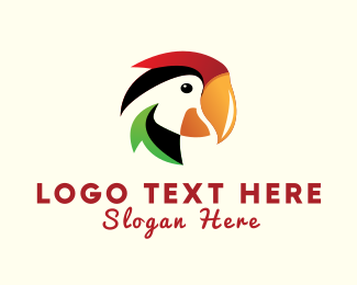 Aviary - Colorful Parrot logo design
