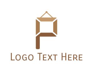 Frame Letter P Logo