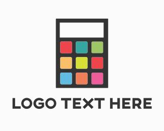 Tablet - App Calculator logo design