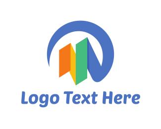 Color - Bar Chart logo design