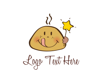 Wand - Star Cookie Kid logo design
