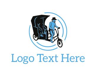 Taxi - Classic Rickshaw logo design