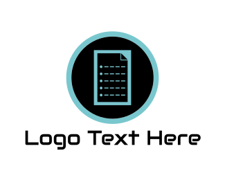 List - Digital Document logo design