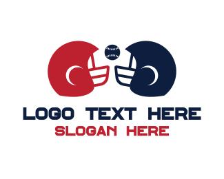 Baseball - Baseball Helmet logo design