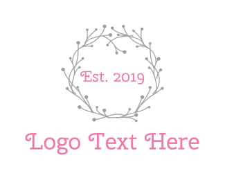 Fabric - Grey Wreath logo design