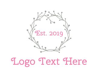 Branch - Grey Wreath logo design