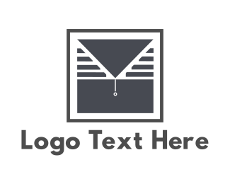 Curtain - Window & Mail logo design