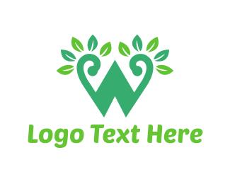 Letter - Green W Letter  logo design