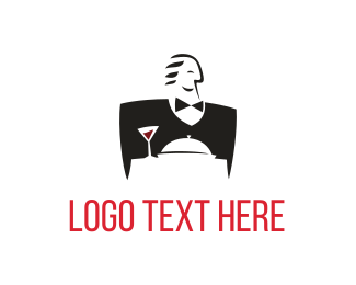 Caterer - Good Waiter logo design