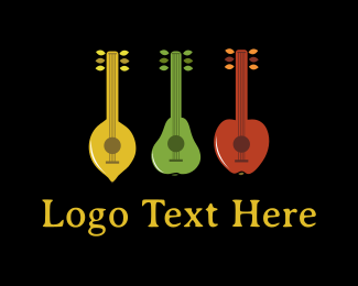 Guitar - Fruit Band logo design