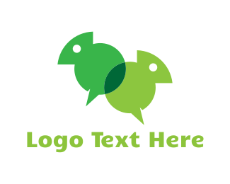 Translation - Chameleon Chat logo design