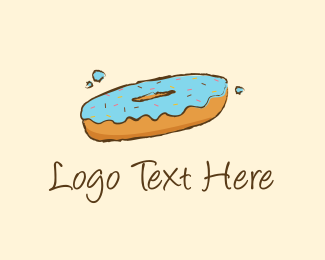 Snack - Blue Donut logo design