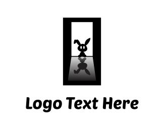Rabbit - Black Bunny logo design