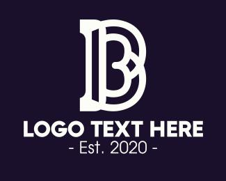 Sansserif - Neon Classic B logo design