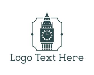 England -  Big Ben logo design