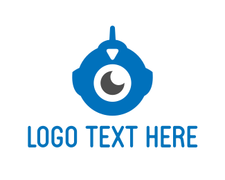 Antenna - Cyclops Robot logo design