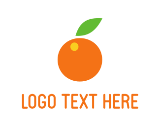 Fresh - Orange Fruit logo design