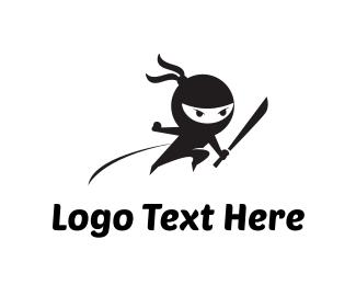 Knife - Ninja Attack logo design