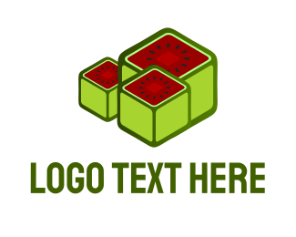 Seed - Watermelon Cubes logo design
