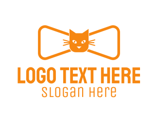 Bowtie - Cat Bow Tie  logo design