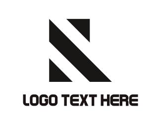 Line - Lines & Letter R logo design