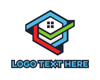 Drywall - Hexagon House  logo design