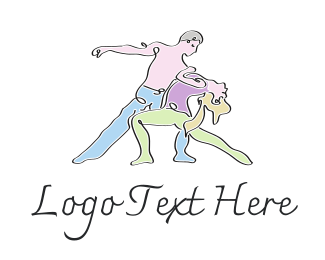 Dancer - Dance Couple logo design