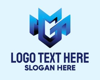 Antivirus - M Shield logo design