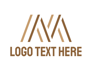 Tailor - Brown M Stripes logo design