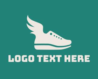 Running - Fly Shoes logo design
