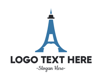 Tourist - Blue Mustache Tower logo design