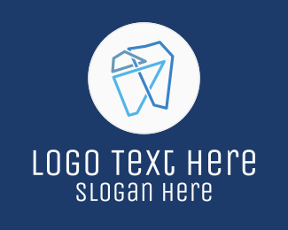 Dentist - Modern Geometric Tooth logo design