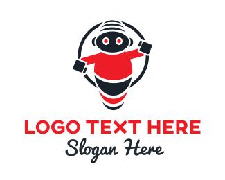 Bot - Kiddie Droid logo design