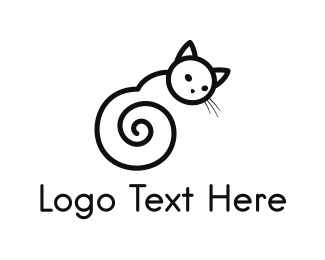 Spiral - Black Cat Spiral logo design