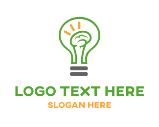 Bulb - Brain Light logo design