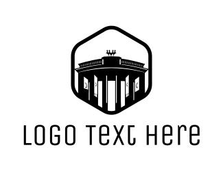 Gate - Brandenburg Gate logo design