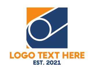 Shape - Orange Blue Shape logo design