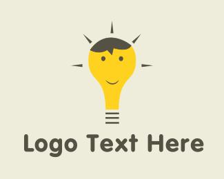 Smart - Happy Bulb  logo design