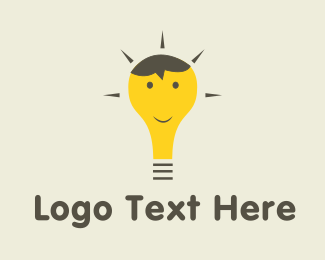 Happy - Happy Bulb  logo design
