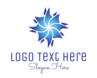 Freezer - Blue Flower logo design
