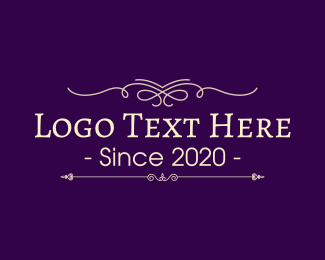 Classic - Traditional & Purple logo design