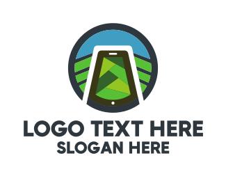 Food Service - Nature & Smartphone logo design