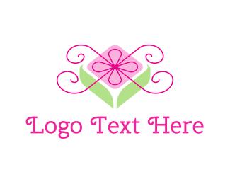 Bow - Flower Gift logo design