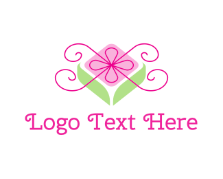 Bow - Flower Gift logo design
