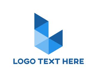 Program - Blue Triangle L logo design