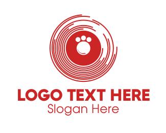 Disc - Paw Disc logo design