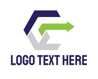 Finance - Modern Cube E logo design
